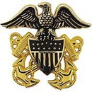 Eagle Emblems P40151 Bdg-Usn, Officer, Cap (2-1/2