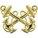 Eagle Emblems P40152 Bdg-Usn, Officer, Warrant (2-1/4