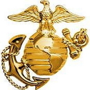 Eagle Emblems P40205 Pin-Usmc, Emblem, E1, Left Cap-Gold (1-3/4