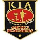 Eagle Emblems P40211 Pin-Kia, America Remembers (Shield) Blk/Red (1-1/2