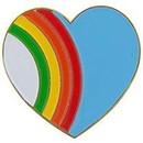 Eagle Emblems P60251 Pin-Hol, Heart, Rainbow (1