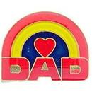 Eagle Emblems P60261 Pin-Hol, Dad, Heart & Rainb (1
