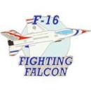 Eagle Emblems P61660 Pin-T/B, F-016 Fgt.Falcon (1-1/2
