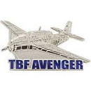 Eagle Emblems P61700 Pin-Apl, Tbf Avenger (1-1/2