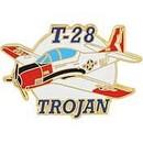 Eagle Emblems P61706 Pin-Apl, T-28 Trojan (1-1/2