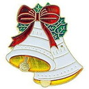 Eagle Emblems P61841 Pin-Hol, Xmas, Bells (1