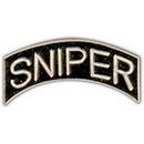 Eagle Emblems P62265 Pin-Sniper, Tab (Slv/Blk) (1-1/4