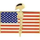 Eagle Emblems P62267 Pin-Memorial, Flag/Rifle (1