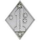 Eagle Emblems P62271 Pin-Usmc, 001St Div. (Pwt) (1-1/16