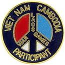 Eagle Emblems P62330 Pin-Viet, War Game, Se Asia (Blk) (1