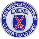 Eagle Emblems P62428 Pin-Army, 010Th Mtn.Div. (Mini) (3/4