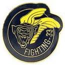 Eagle Emblems P62435 Pin-Usn, Fighting-33 (1