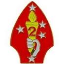 Eagle Emblems P62491 Pin-Usmc, 002Nd Div. (Pwt) (1