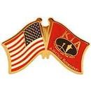 Eagle Emblems P62589 Pin-Kia, Honor Flag/Usa, Rd (1-1/4