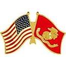 Eagle Emblems P62593 Pin-Usmc, Flag, Usa/Usmc (1-1/4