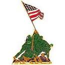 Eagle Emblems P62614 Pin-Usmc, Iwo Jima, Colored (1-1/4
