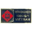 Eagle Emblems P62660 Pin-Viet, Bdg, 018Th Eng.Bg 1965-1971 (1-1/8