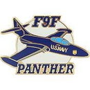Eagle Emblems P62683 Pin-B/A, F-009F Panther 1949-1954 (1-1/2