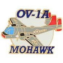 Eagle Emblems P62714 Pin-Apl, Ov-1A Mohawk (1-1/2