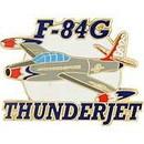 Eagle Emblems P62748 Pin-T/B, F-084G Thunder 1953-1954 (1-1/2
