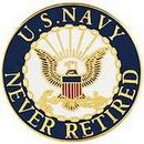 Eagle Emblems P62812 Pin-Usn Logo, Never Ret. (1