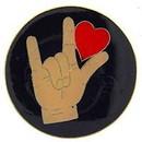 Eagle Emblems P63151 Pin-Hol, Heart, Hand (1