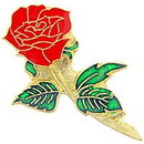 Eagle Emblems P63630 Pin-Plant, Rose, Red (1