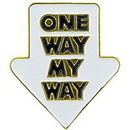 Eagle Emblems P63636 Pin-Fun, One Way My Way (1