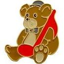 Eagle Emblems P63649 Pin-Music, Note, Teddy Bear (1
