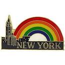 Eagle Emblems P63872 Pin-Ny, City & Rainbow (1