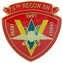Eagle Emblems P64011 Pin-Usmc, 005Th Recon Btln (1