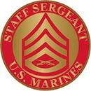 Eagle Emblems P64028 Rank-Usmc, E6, Staff Sgt (Clr) (7/8