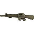 Eagle Emblems P64057 Pin-Rifle, M-16/Ar-15, Pwt (1-1/2