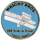 Eagle Emblems P64063 Pin-Apl, Wright Bros.Anniv (1