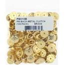 Eagle Emblems PB010B Pin Back-Metal Clutch (100 Pack)     Brass