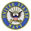 Eagle Emblems PM0004 Patch-Usn Logo (03) (Ylw Txt) (3