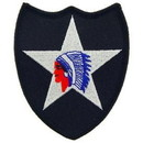 Eagle Emblems PM0096 Patch-Army, 002Nd Inf.Div. (3-1/4