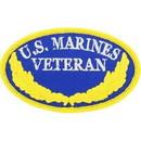 Eagle Emblems PM0109 Patch-Usmc, Oval, Veteran (3-1/2