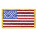 Eagle Emblems PM0113 Patch-Flag Usa, Rect.Gold (2