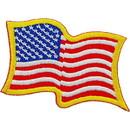 Eagle Emblems PM0114 Patch-Flag Usa, Wavy, Gold (2-1/4