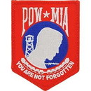 Eagle Emblems PM0117 Patch-Pow*Mia (Red/Wht/Blu) (3-1/2