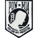 Eagle Emblems PM0118 Patch-Pow*Mia (White) (3-1/2
