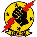 Eagle Emblems PM0119 Patch-Usn, Vfa-25 (3-1/2