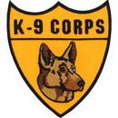 Eagle Emblems PM0175 Patch-K-9 Corps (3-1/4