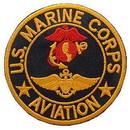 Eagle Emblems PM0182 Patch-Usmc, Aviation, (Usn) (Blk/Red/Gld) (3