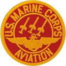 Eagle Emblems PM0193 Patch-Usmc, Aviation, (Usn) (Red/Gld) (3