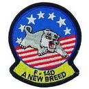 Eagle Emblems PM0195 Patch-Usn, Tomcat, New Bree (3-3/8