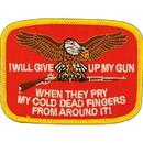 Eagle Emblems PM0220 Patch-Gun, I'Ll Give Up (3-3/4