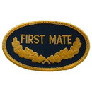 Eagle Emblems PM0242 Patch-Usn, Oval, 1St Mate (3-1/2