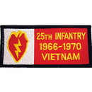 Eagle Emblems PM0320 Patch-Viet, Bdg, Army, 025Th 1966-1970 (4-1/4